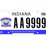 Indiana DOE license plate