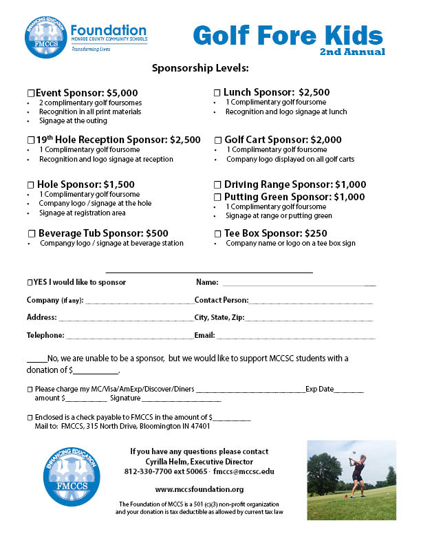 Golf fore kids 2016 fmccs download the form and send in with payment or click donate now to pay online note golf and team name in comments thecheapjerseys Image collections
